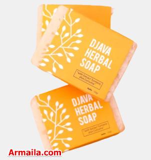 DJAVA Herbal Soap Turmeric Plus Curcuma  ARMAILA DROPSHIPPER