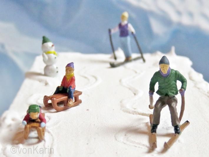 Miniwelt Skifahrer