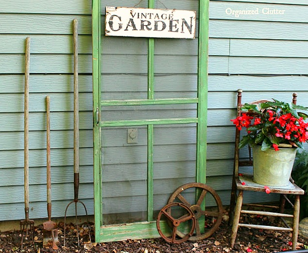 Junk Garden Decor in the Shade