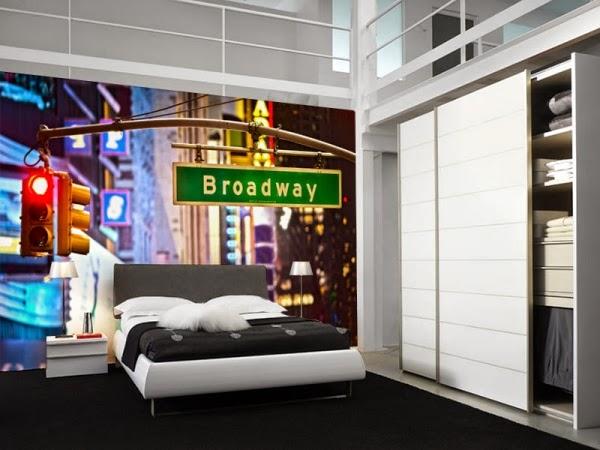 decoración dormitorio con murales