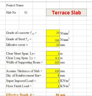 Terrace Slab Design