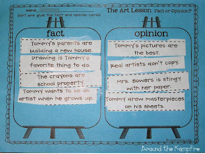 Fact and opinion activity for The Art Lesson by Tomie dePaola