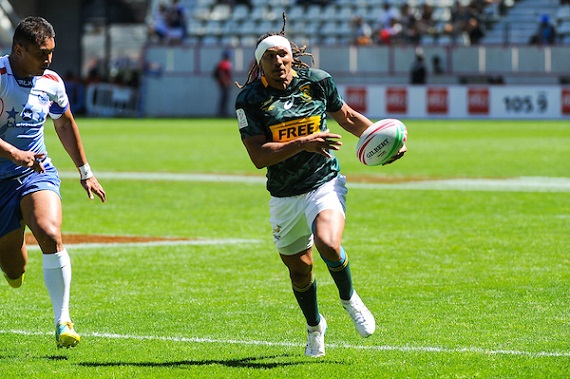 Justin Geduld of South Africa during the match between South Africa and Samoa at the HSBC Paris Sevens