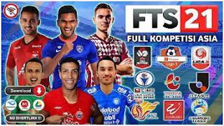 Download FTS 21 Mod Full Asia Edition V8 Best Grafik HD Piala Menpora & Shopee Liga 1 Indonesia