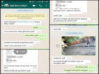 Menara Air Besi Pesanan Bpk Ibnu Sofyan Bojong Gede Bogor