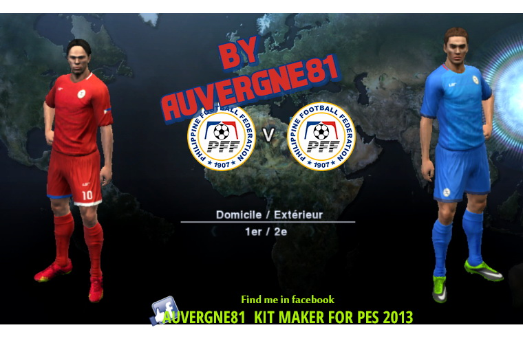 PES 2013 Philippines LGR new kits (home away and third) GDB 2017 by Auvergne81