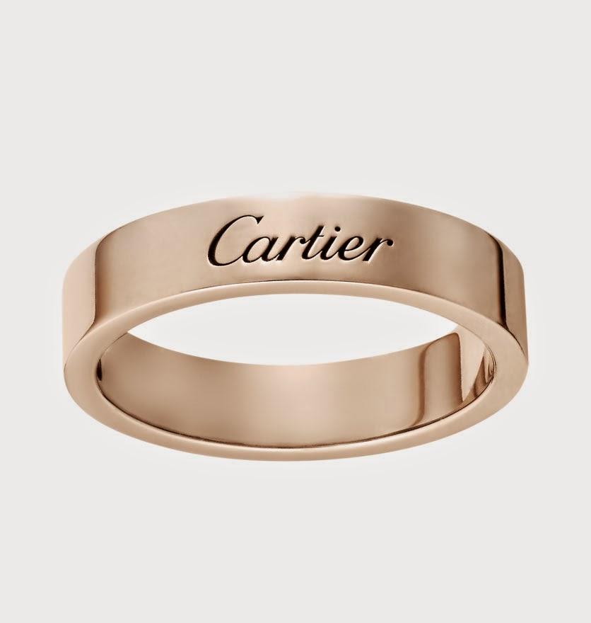 Cartier Men s Simple Rose Gold Wedding Bands Model