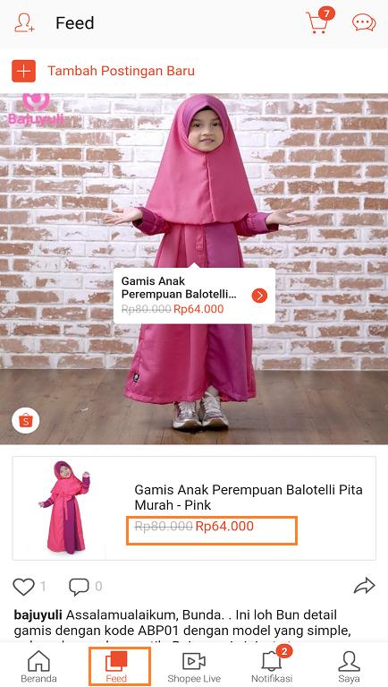 Mencari Promo Terbaru Shopee di Halaman Feed Aplikasi Shopee.