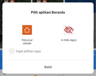 pilih aplikasi launcher