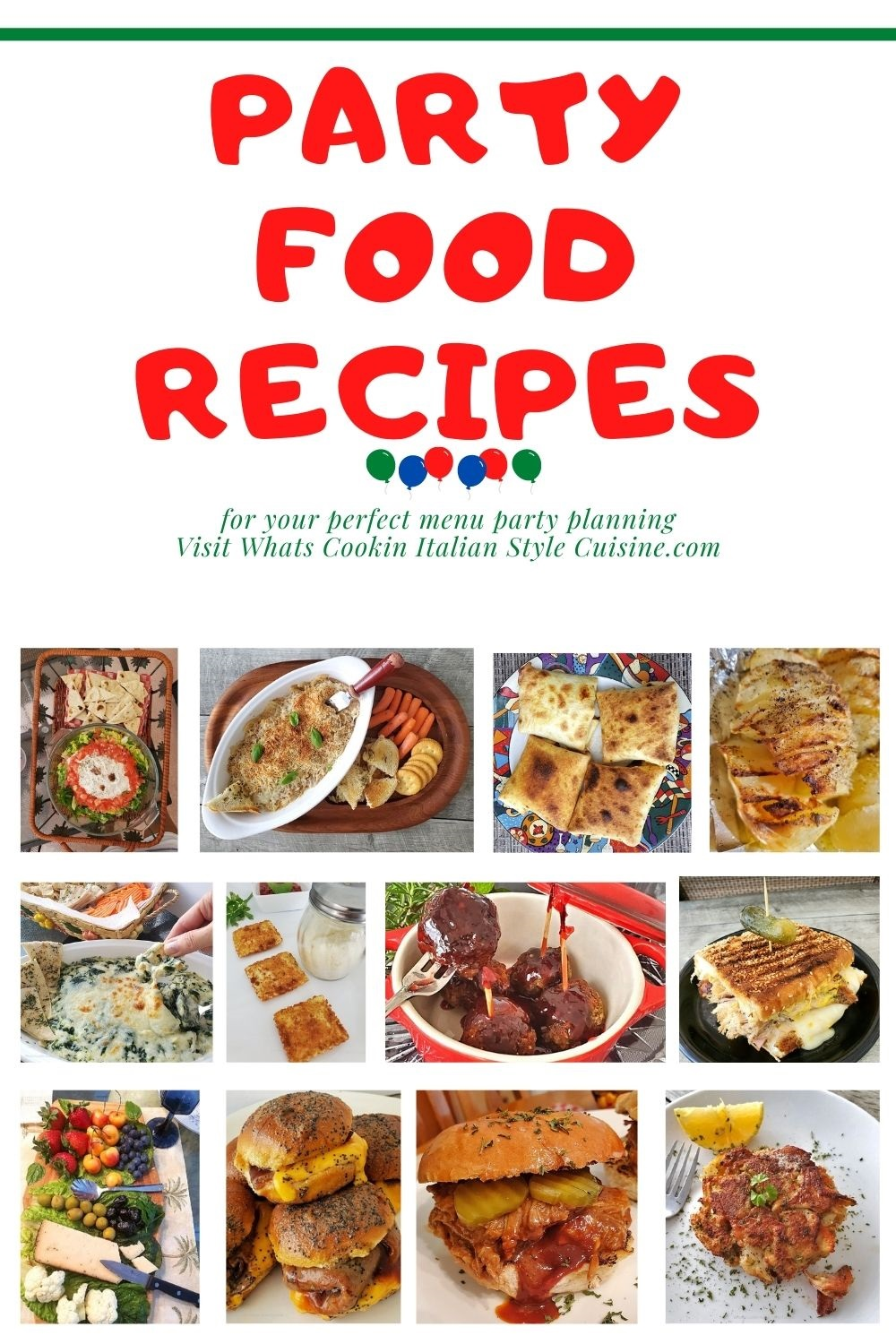 this is a pin for later party food menu and recipes