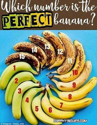 Kematangan pisang yang tepat untuk dikonsumsi.