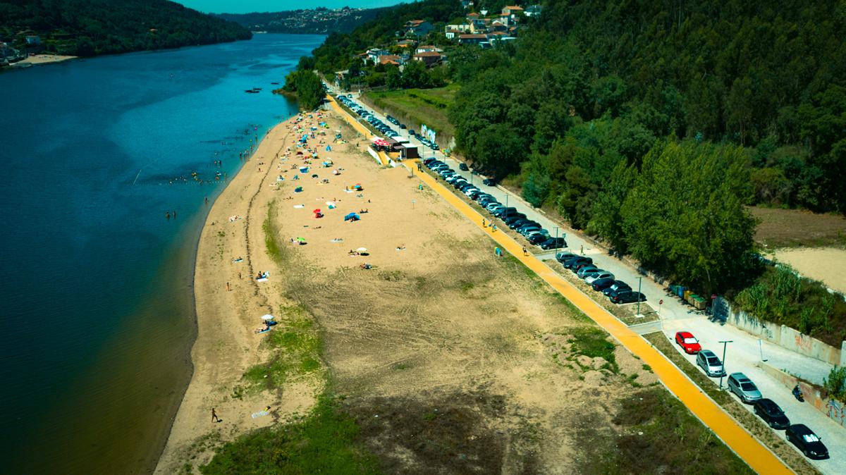 Praia de Zebreiros  - Vista aérea