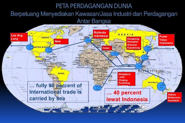 7 Keuntungan Letak Geostrategis Indonesia Di Bidang Ekonomi, Transportasi, Dan Komunikasi