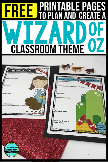 WIZARD OF OZ Theme Classroom: If you're an elementary teacher who is thinking about a Wizard of Oz theme then this classroom decor blog post is for you. It'll make decorating for back to school fun and easy. It's full of photos, tips, ideas, and free printables to plan and organize how you will set up your classroom and decorate your bulletin boards for the first day of school and beyond.
