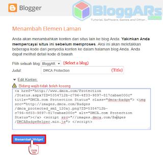 Memasang Badge Perlindungan Konten DMCA pada Blog