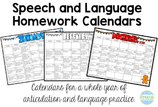 Are You Looking For An Easy Way To Send Home Activities For Your Speech And  Language Students To Practice Their Skills? I Have Been Using These  Calendars ...