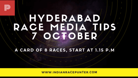 Hyderabad Race Media Tips, indiarace,  free indian horse racing tips