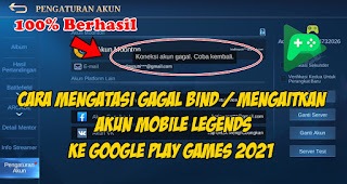 Cara Mengatasi Gagal Bind Akun Mobile Legends Ke Google Play Games
