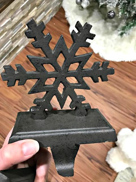 snowflake stocking holder