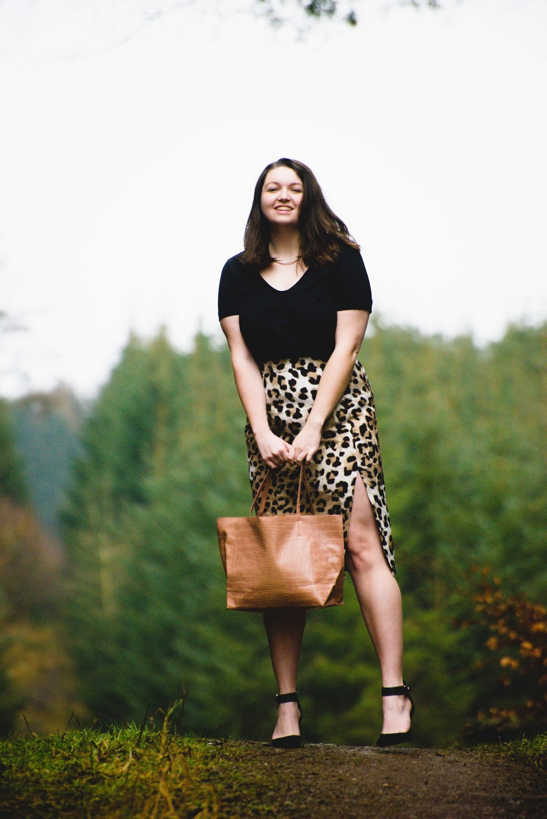 leopard print skirt ootd fashion blog liquid grain liquidgrain