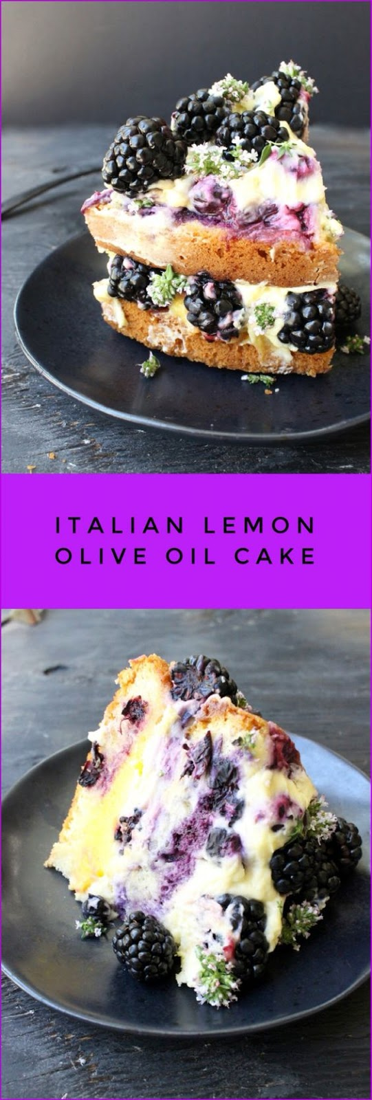 Best Italian Lemon Olive Oil Cake Recipe with Berries