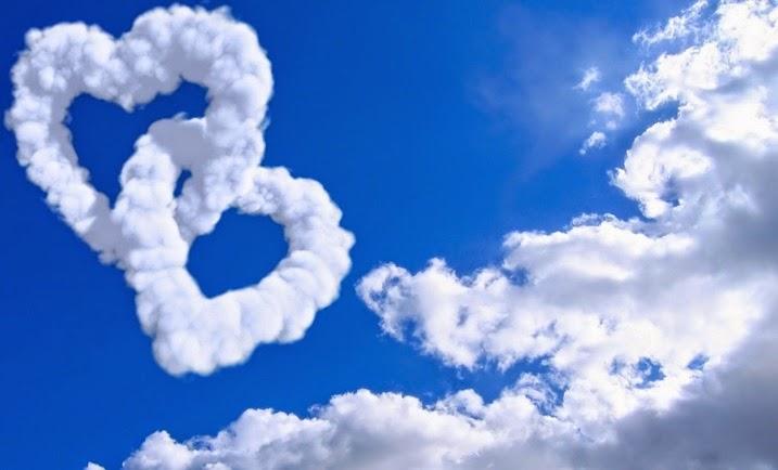 cinta langit biru bangkitkan alam badai di dada