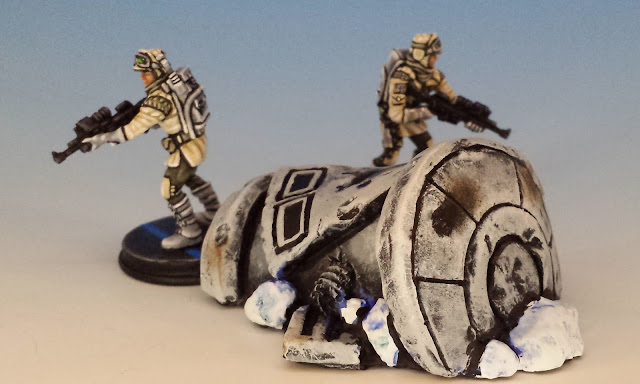 Painted Imperial Assault Scenery Destroyed DF.9 Turret