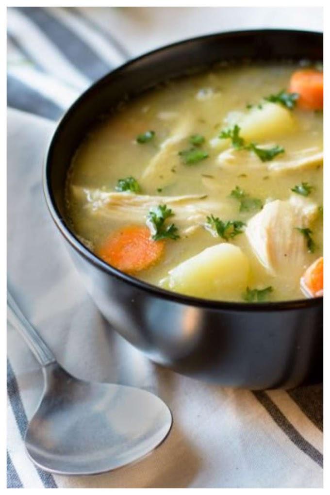 Potato Chicken Soup Recipe - உருளைக்கிழங்கு சிக்கின் சூப்