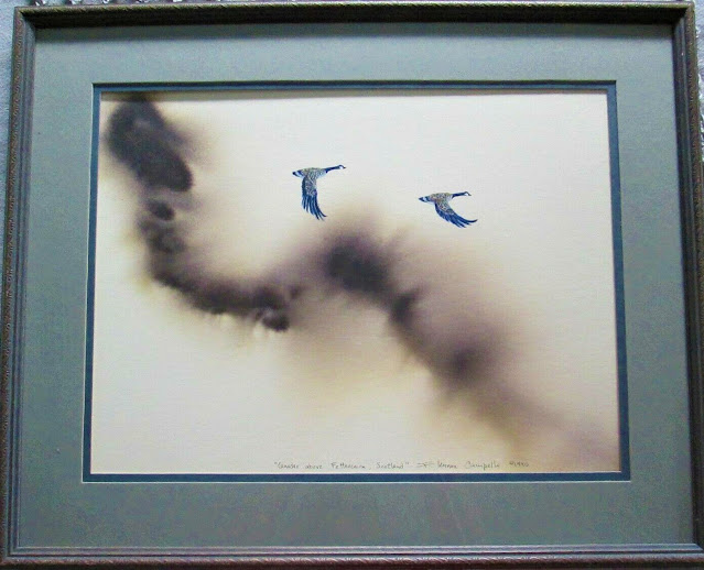 Two Canadas over Brechin, Scotland by F. Lennox Campello