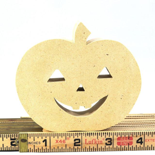 Handmade Wood Toy Halloween Jack-O-Lantern Ornament Decoration
