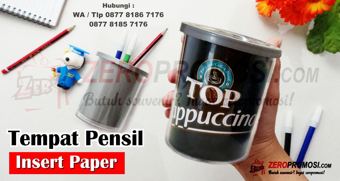 Tempat Pensil, Pen Container, Wadah bullpen, Pen Holder,  Pencil Holder insert paper, Pen Container Insert Paper, Tempat Pensil Untuk Kantor