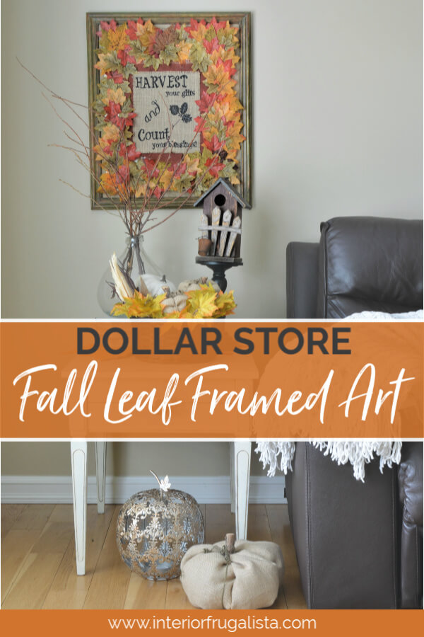 Dollar Store Fall Leaf Framed Art