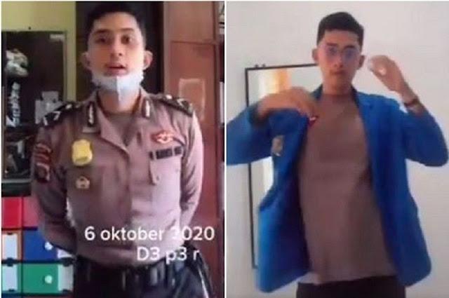 Di Tengah Aksi Demo Tolak UU Cipta Kerja, Viral Video Polisi Diduga Menyamar jadi Mahasiswa