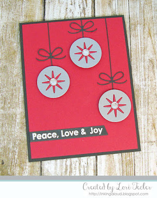 Peace, Love, & Joy card-designed by Lori Tecler/Inking Aloud-stamps and dies from My Favorite Things