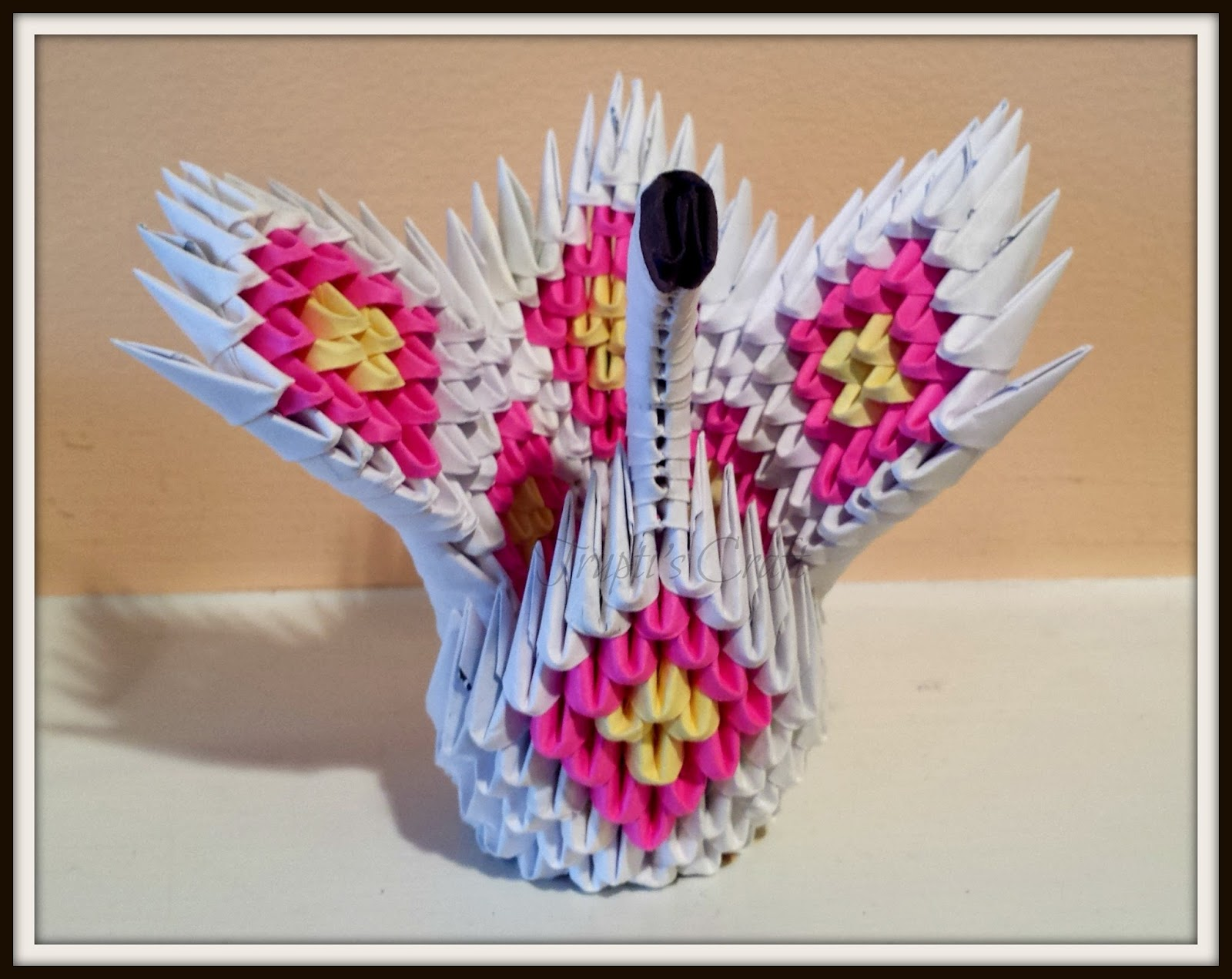 How to make paper peacock mini origami 3D. Tutorial DIY - YouTube   1271x1600