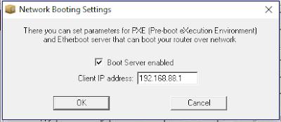 Network Booting Settings
