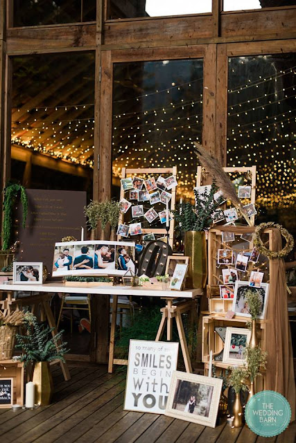 rustic picture display