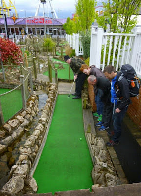 National Miniature Golf Day at the Pebble Beach Adventure Golf course in Skegness