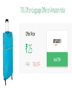Luggage Offer Price Rs. 25 at Amazon India