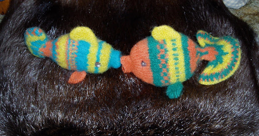 A Small Catch of Felted Fish