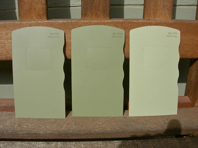 My little bungalow choosing exterior paint colors - The color sage green ...