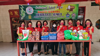 Sambut Idul Fitri 2021, PERWANTI Berikan Bansos Kepada Kaum Duafa Kota Medan