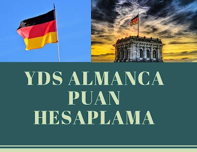 YDS ALMANCA PUAN HESAPLAMA