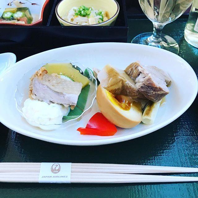 2018年6月下旬:JL914(JAL914) 那覇=東京・羽田 国内線ファーストクラスの機内食内容(夕食)