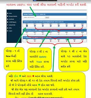 Adhar Dise New Entry | SSA Gujarat Aadhar Dise Login | Child Tracking System | UID Information