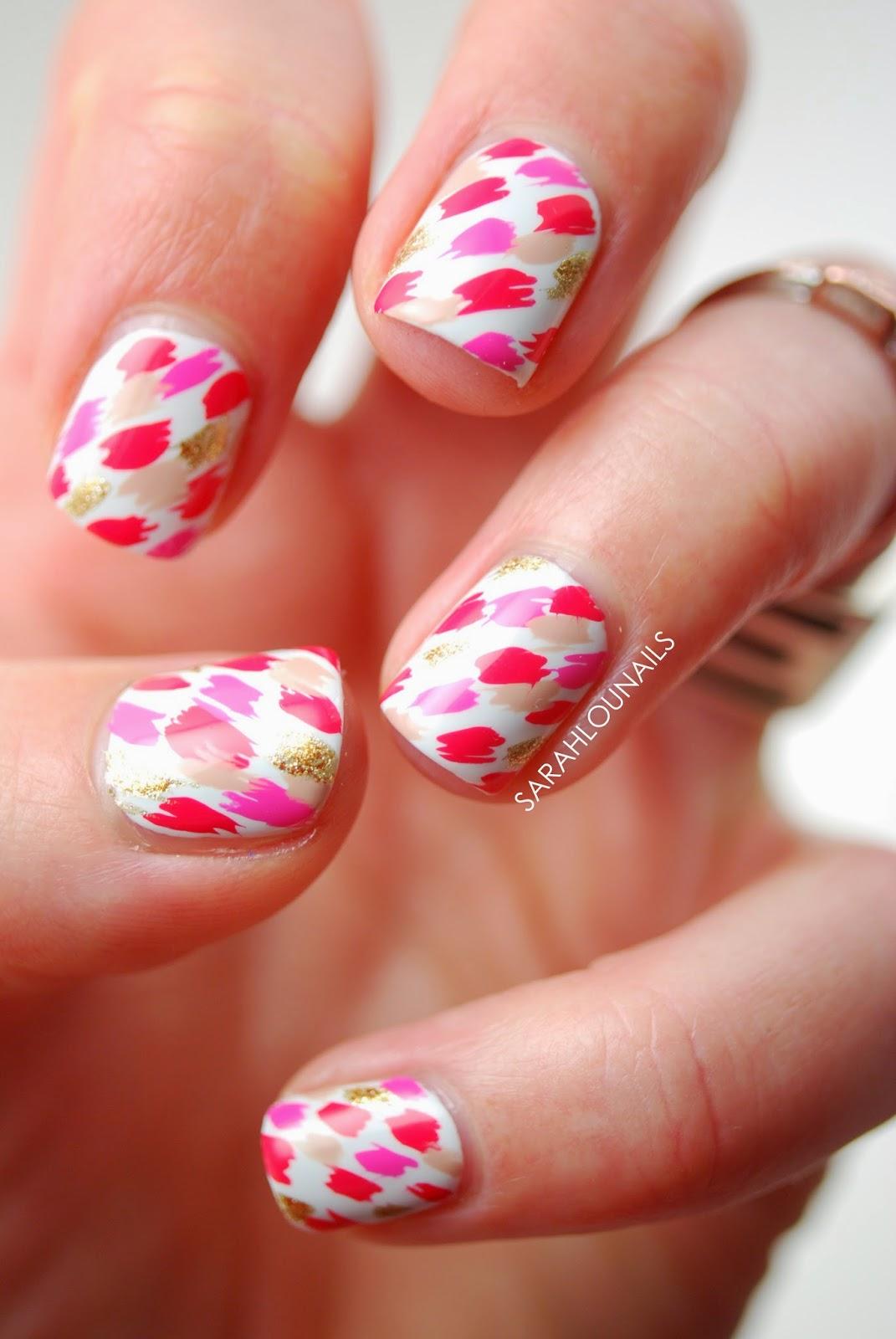 Sarah Lou Nails: Red Pattern Nails
