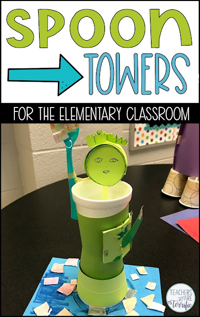 STEM Challenge- this quick and easy challenge has students using a plastic spoon as part of their structure! Check this post to see some creative wa