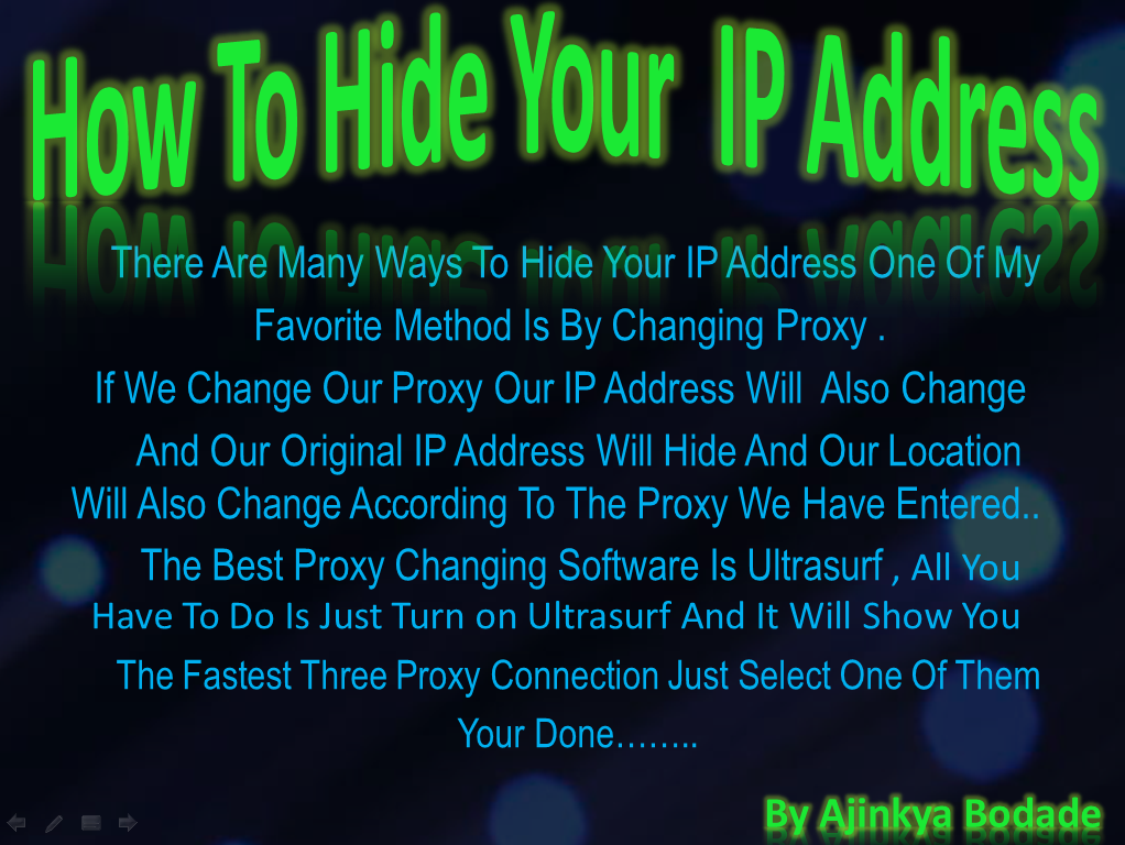 Ways of hiding your ip address