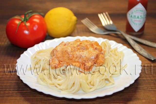рецепт спагетти с беконом и сливками