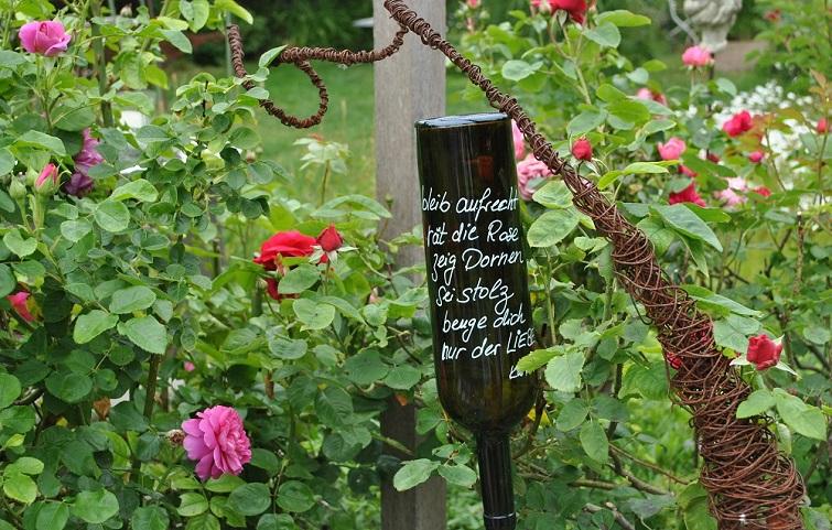 Weißheiten Zitate Gedichte als Gartendeko